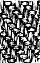 Basket weave stamp