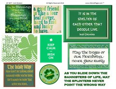 3077 Irish Wisdom Printable