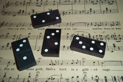 Wooden Dominoes 10 pack BLACK