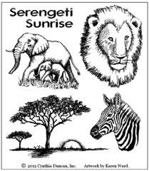 Serengeti Sunrise Art Kit