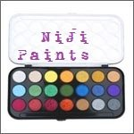 NIJI Paint sets with case 16 colors