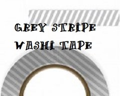 Washi Tapes grey stripe