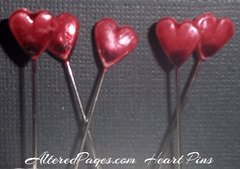 Heart Pearl Hat Pins (6)