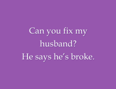 Snarky stamp - Broke Husband