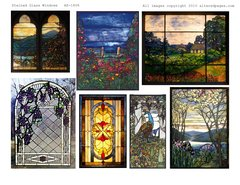Stained Glass Windows digital 1806