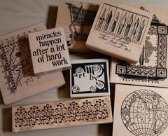 CArefully used Rubber Stamps