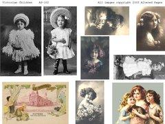 102 Victorian Children Printable