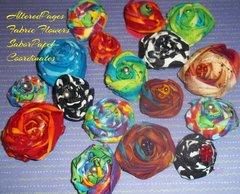 Festive Fabric Flowers