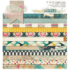 8 x 8 Glitz Paper Pads  Uncharted Waters