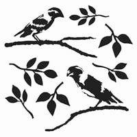 Stencil Love Birds 12 x 12