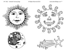 3012 Celestial Coloring Page Printable
