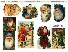 1862 Very Vintage Santas digital