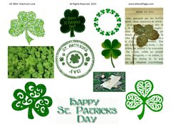 3054 Shamrock Love Printable