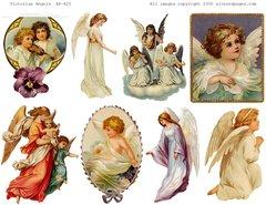 425 Victorian Angels PRINTABLE