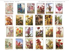 729 Alphabet Fairies Printable