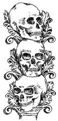 Stacked Skulls Stamp