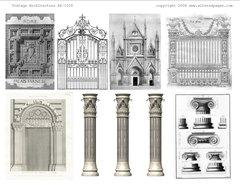 1029 Vintage Architecture Printable