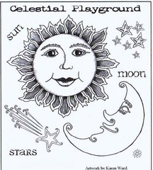 Celestial stamp plate