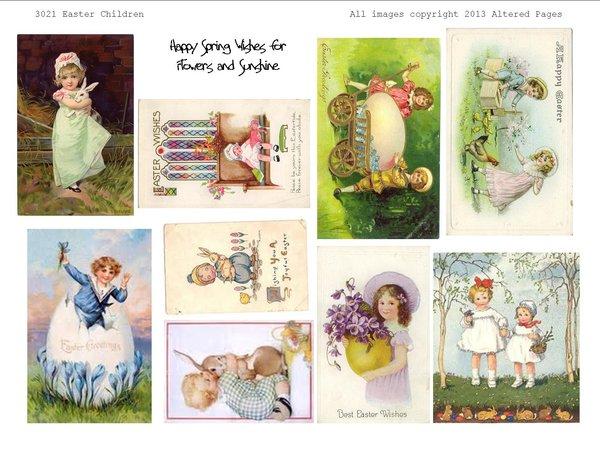 3021 Easter Children Printable