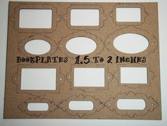 Laser cut Bookplates