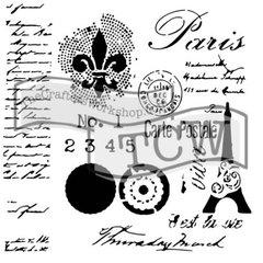 Stencil Carte Postale 6x6