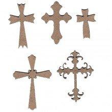 Chipboard Crosses (5)
