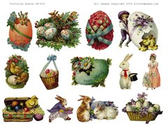 315 Victorian Easter Printable