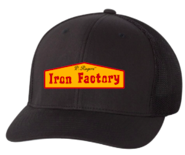 Embroidered Paul Rogers Iron Factory Flexfit Cap- solid black