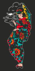 Giesha Girl Tee -dark