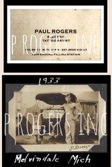 Paul Rogers Carnival Biz Card and Tattoo Man Photo tee