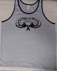 Mens Grey Tank with Black Trim (front & back)