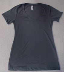 Womens Dark Grey V-Neck (front & back)