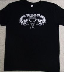 Mens Black T-shirt (front only)