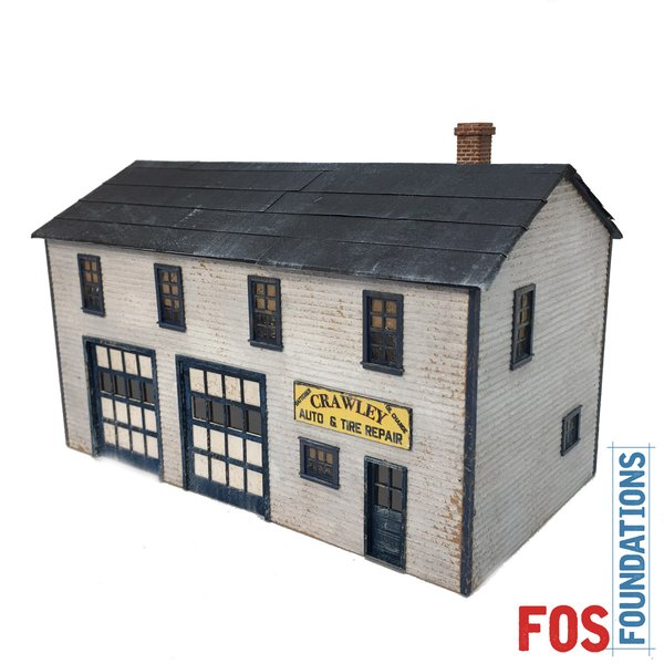 Crawley Auto Amp Tire Repair Ho Scale Fos Scale Models Llc