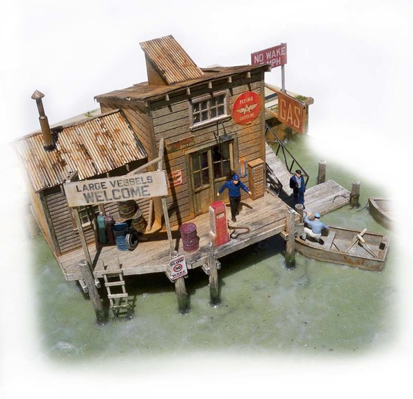 Marshall S Gas Dock Ho Scale Kit Fos Scale Models Llc
