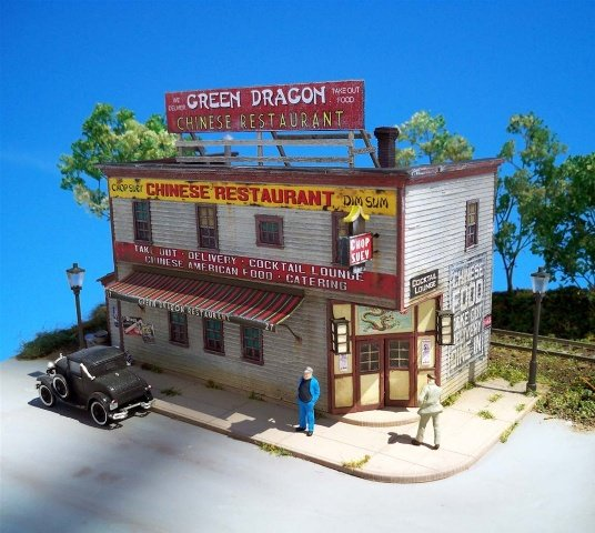 ho scale buildings and structures green dragon chinese restaurant ho scale kit fos scale models llc