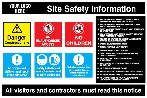 General Site Safety Sign Gss1001 Site Safety