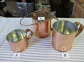 Tin Lined Copper Corn Boiler and Cups