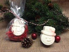 Peppermint Snowman Soap