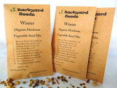 Winter Organic Heirloom Vegetable Seed Variety Pack