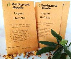 Organic Herb Mix - basil, coriander, chives, oregano, parsley, sage & thyme