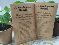 Heirloom Vegetable Collections #1 and #2 Spring/Summer