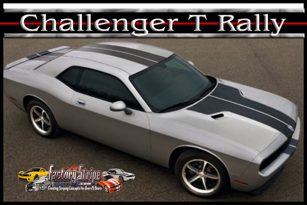 Dodge Challenger Solid T Rally Factory Stripe Style 3m