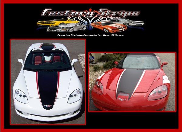 Chevy Corvette C6 Speedster Factory Stripe Graphic Decal