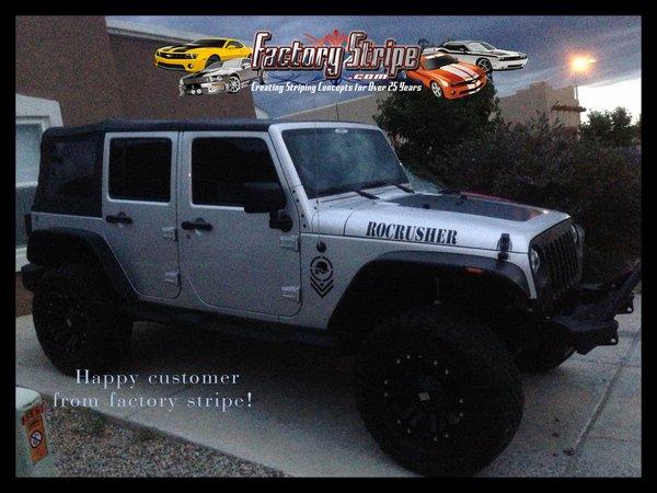 Jeep Jk Blackout Automotive Graphic 2007 2008 2009 2010