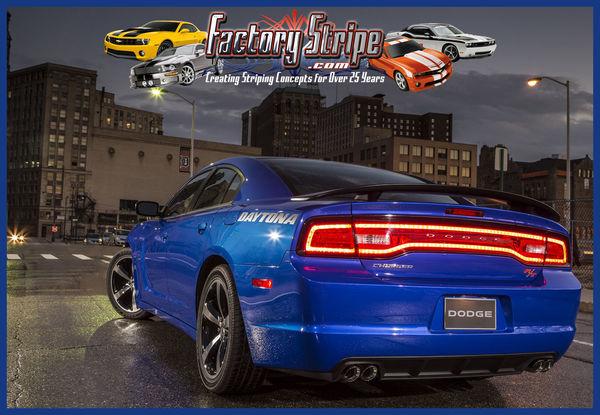 Dodge Charger Factory Stripe Style 3m Daytona Logo Rear