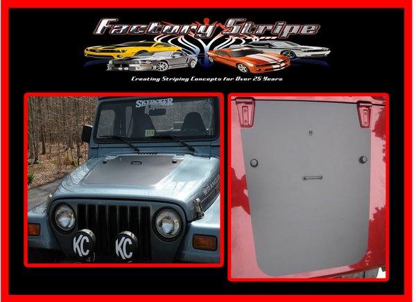 Jeep Wrangler Tj Blackout Hood Automotive Graphic Decals