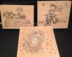 Bargain Bundle - Carefree Summer Memories Wood-Mounted Stamps