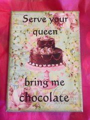 "5 x 7 Canvas Art - ""Serve Your Queen"""