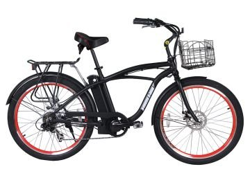 X Treme Newport Elite Beach Cruiser Electric Bike Lithium